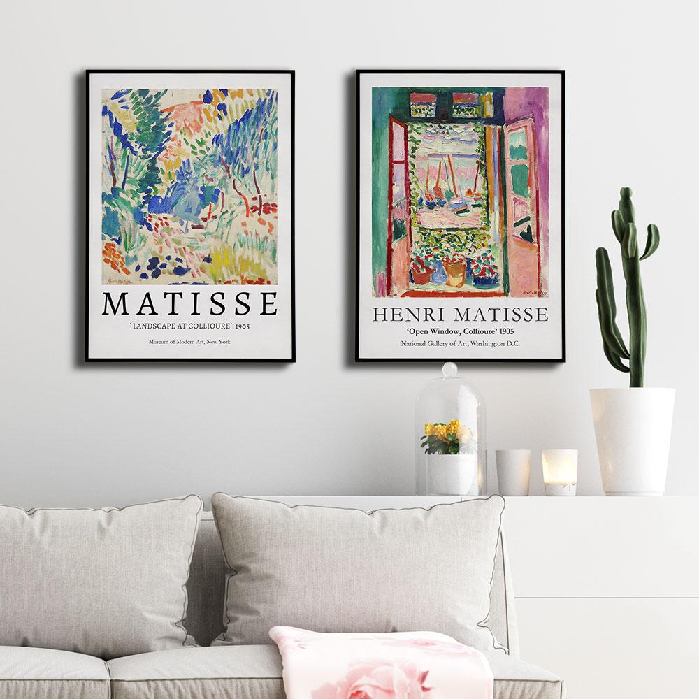 Tilbud Henri Matisse Abstrakt Landskab Plakat Vintage Lærred ...